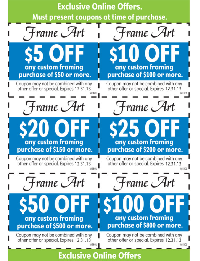 Art to frames coupon code